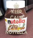 KEEP CALM AND EAT NUTTELLA - Personalised Tea Towel: Premium