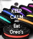 KEEP CALM AND Eat Oreo's - Personalised Tea Towel: Premium
