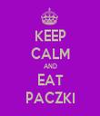 KEEP CALM AND EAT PACZKI - Personalised Tea Towel: Premium