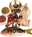KEEP CALM AND EAT PROTEIN - Personalised Tea Towel: Premium