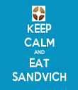 KEEP CALM AND EAT SANDVICH - Personalised Tea Towel: Premium