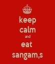 keep calm and eat  sangam,s - Personalised Tea Towel: Premium