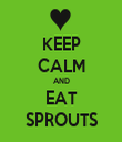 KEEP CALM AND EAT SPROUTS - Personalised Tea Towel: Premium