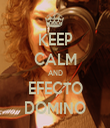 KEEP CALM AND EFECTO DOMINO - Personalised Tea Towel: Premium