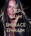 KEEP CALM AND EMBRACE EPHRAIM - Personalised Tea Towel: Premium