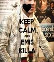 KEEP CALM AND EMIS KILLA - Personalised Tea Towel: Premium