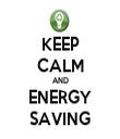 KEEP CALM AND ENERGY SAVING - Personalised Tea Towel: Premium