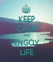 KEEP CALM AND ENGOY LIFE - Personalised Tea Towel: Premium
