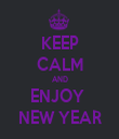 KEEP CALM AND ENJOY  NEW YEAR - Personalised Tea Towel: Premium