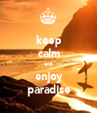 keep calm and enjoy paradise - Personalised Tea Towel: Premium