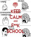 KEEP CALM AND F**K SCHOOL - Personalised Tea Towel: Premium