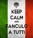 KEEP CALM AND FANCULO A TUTTI - Personalised Tea Towel: Premium