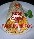 KEEP CALM AND FART BURRITOS  - Personalised Tea Towel: Premium
