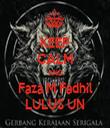 KEEP CALM AND Faza M Fadhil LULUS UN - Personalised Tea Towel: Premium