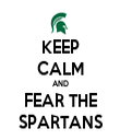 KEEP CALM AND FEAR THE SPARTANS - Personalised Tea Towel: Premium