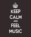 KEEP CALM AND FEEL MUSIC - Personalised Tea Towel: Premium