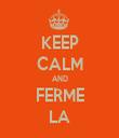 KEEP CALM AND FERME LA - Personalised Tea Towel: Premium