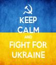KEEP CALM AND FIGHT FOR UKRAINE - Personalised Tea Towel: Premium