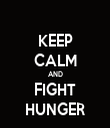 KEEP CALM AND FIGHT HUNGER - Personalised Tea Towel: Premium