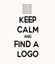 KEEP CALM AND FIND A  LOGO - Personalised Tea Towel: Premium