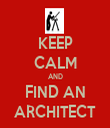 KEEP CALM AND FIND AN ARCHITECT - Personalised Tea Towel: Premium