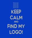 KEEP CALM AND FIND MY LOGO! - Personalised Tea Towel: Premium