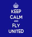 KEEP CALM AND FLY UNITED - Personalised Tea Towel: Premium