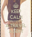 KEEP CALM AND FOLLOW A TRAVEL AGENT - Personalised Tea Towel: Premium