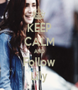 KEEP CALM AND Follow Lily - Personalised Tea Towel: Premium