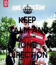 KEEP  CALM AND FOLLOW ONE DIRECTION - Personalised Tea Towel: Premium