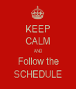 KEEP CALM AND Follow the SCHEDULE - Personalised Tea Towel: Premium