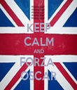 KEEP CALM AND FORZA  OSCAR - Personalised Tea Towel: Premium