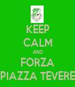 KEEP CALM AND FORZA PIAZZA TEVERE - Personalised Tea Towel: Premium