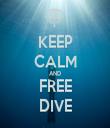 KEEP CALM AND FREE DIVE - Personalised Tea Towel: Premium