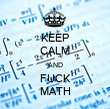 KEEP CALM AND FUCK MATH - Personalised Tea Towel: Premium