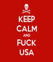 KEEP CALM AND FUCK USA - Personalised Tea Towel: Premium