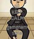 KEEP CALM AND gamgnam style - Personalised Tea Towel: Premium