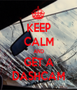 KEEP CALM AND GET A DASHCAM - Personalised Tea Towel: Premium