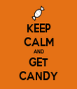 KEEP CALM AND GET CANDY - Personalised Tea Towel: Premium