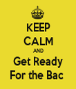 KEEP CALM AND Get Ready For the Bac  - Personalised Tea Towel: Premium