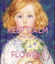 KEEP CALM AND GIVE  FLOWERS - Personalised Tea Towel: Premium