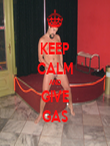 KEEP CALM AND GIVE GAS - Personalised Tea Towel: Premium