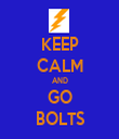 KEEP CALM AND GO BOLTS - Personalised Tea Towel: Premium