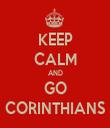 KEEP CALM AND GO CORINTHIANS - Personalised Tea Towel: Premium
