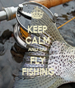 KEEP CALM AND GO FLY FISHING - Personalised Tea Towel: Premium