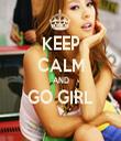 KEEP CALM AND GO GIRL  - Personalised Tea Towel: Premium
