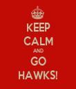 KEEP CALM AND GO HAWKS! - Personalised Tea Towel: Premium