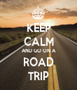 KEEP CALM AND GO ON A ROAD TRIP - Personalised Tea Towel: Premium