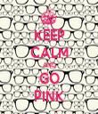 KEEP CALM AND GO PINK - Personalised Tea Towel: Premium