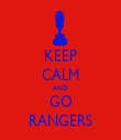 KEEP CALM AND GO RANGERS - Personalised Tea Towel: Premium